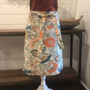 JCrew Floral Pencil skirt with matching tie belt
